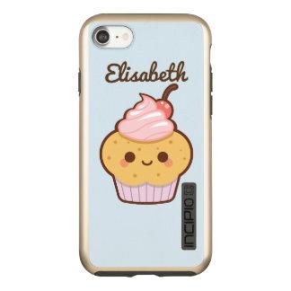 Super cute kawaii sweet cupcake cherry blue incipio DualPro shine iPhone 7 case