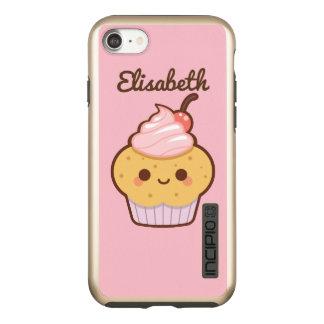 Super cute kawaii sweet cupcake cherry custom name incipio DualPro shine iPhone 7 case