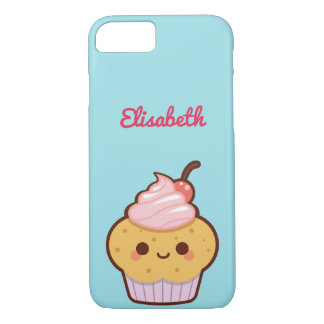 Super cute kawaii sweet cupcake monogram iPhone 8/7 case
