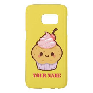 Super cute kawaii sweet cupcake name monogram