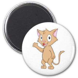 Super Cute Kitten 6 Cm Round Magnet