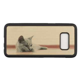 SUPER CUTE Kitten Cat Carved Samsung Galaxy S8 Case