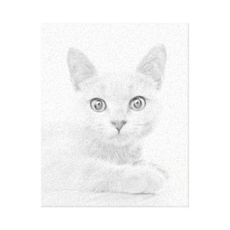 SUPER CUTE Kitten Cat Portrait Canvas Print