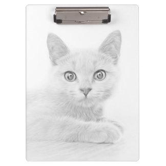 SUPER CUTE Kitten Cat Portrait Clipboard