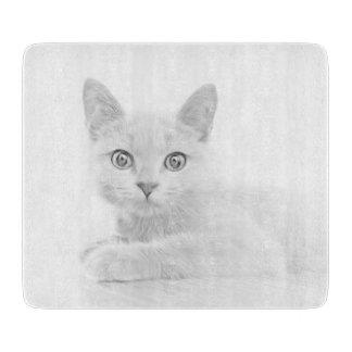 SUPER CUTE Kitten Cat Portrait Cutting Board