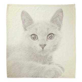 SUPER CUTE Kitten Cat Portrait Kerchief
