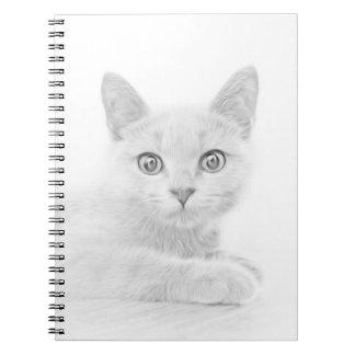 SUPER CUTE Kitten Cat Portrait Notebook