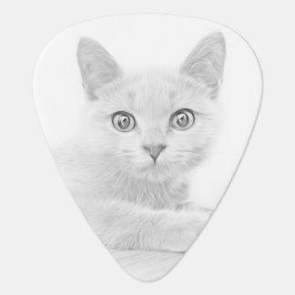 SUPER CUTE Kitten Cat Portrait Plectrum