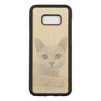 SUPER CUTE Kitten Portrait Photograph Carved Samsung Galaxy S8+ Case