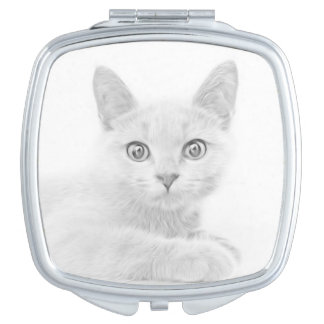 SUPER CUTE Kitten Portrait Photograph Compact Mirror