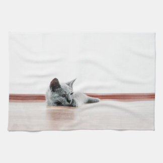 SUPER CUTE Kitten Portrait Photograph Tea Towel