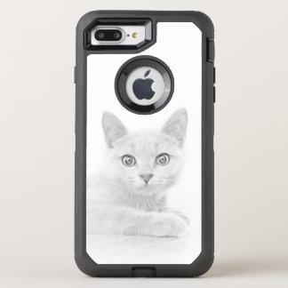 SUPER CUTE Kitten Portrait Scottish Fold Cat OtterBox Defender iPhone 8 Plus/7 Plus Case