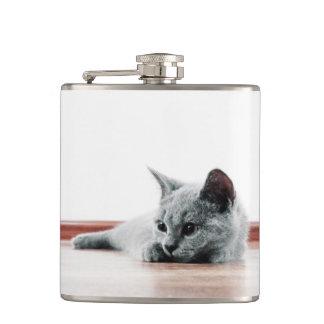 SUPER CUTE Kitty Portrait Hip Flask