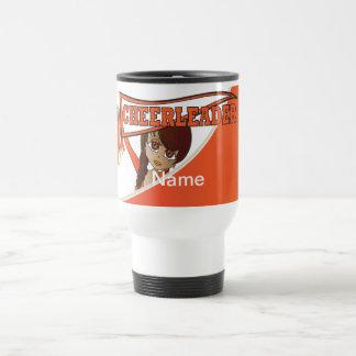 Super Cute Orange Cheerleader Girl Stainless Steel Travel Mug