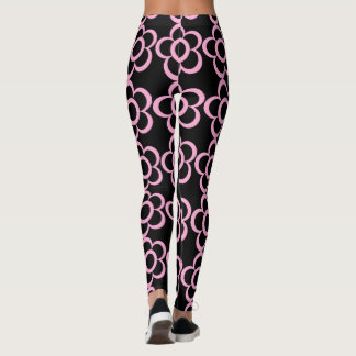 Super Cute Pink Daisies Leggings