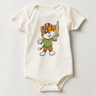 Super Cute Pirate Tiger Baby Creeper