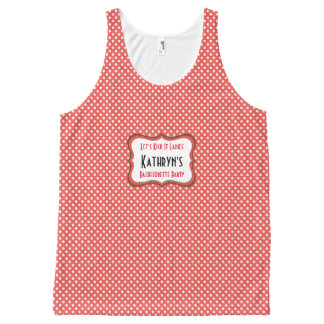 Super Cute Polka Dots Bachelorette Party All-Over Print Tank Top