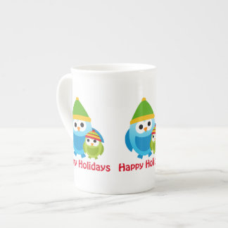 Super Cute Retro Winter Owls Tees Gifts Porcelain Mugs