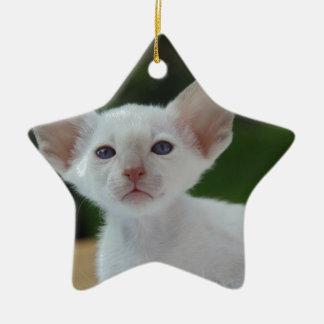 Super Cute Siamese Kitten Christmas Ornament