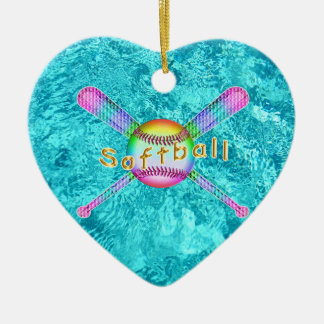 Super Cute Softball Party Favors for Girls Christmas Ornament