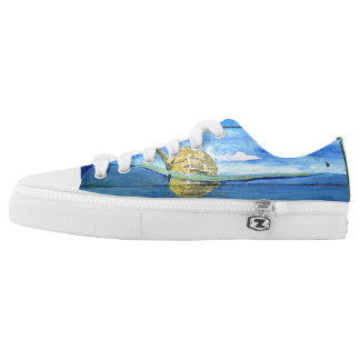 Super Cute Swag Starfish Sky Low Top Shoes