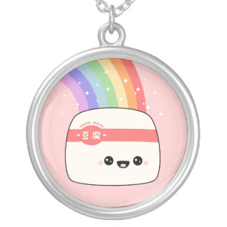 Super Cute Tofu Silver Plated Necklace