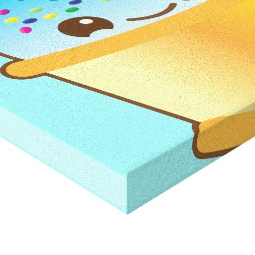 super cute Yummy Yummy bucket icecream! canvas pri Canvas Prints