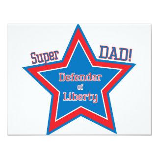Super DAD! 11 Cm X 14 Cm Invitation Card