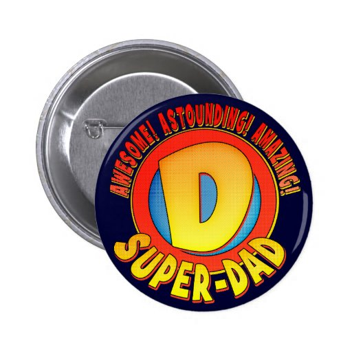 Super Dad Father's Day Button