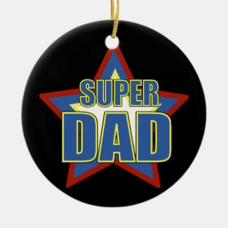 Super Dad/Photo Christmas Ornament