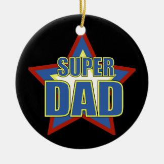 Super Dad/Photo Round Ceramic Decoration