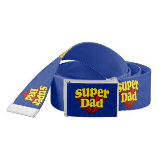 Super Dad Red Yellow Blue Father's Day Superhero Belt