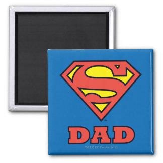 Super Dad Square Magnet