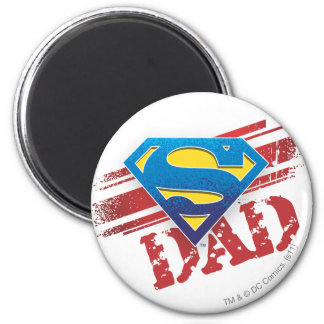 Super Dad Stripes 6 Cm Round Magnet