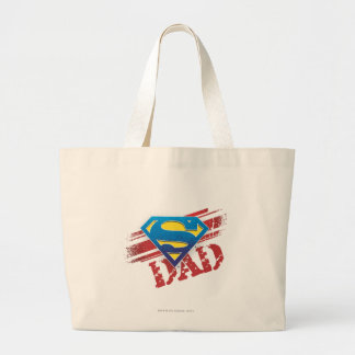 Super Dad Stripes Large Tote Bag