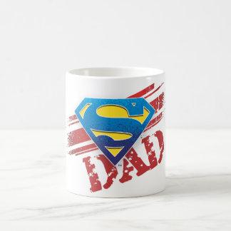 Super Dad Stripes Basic White Mug