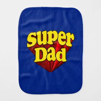 Super Dad, Superhero Red/Yellow/Blue Father's Day Burp Cloth
