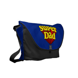 Super Dad, Superhero Red/Yellow/Blue Father's Day Messenger Bags