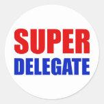 super delegate round stickers