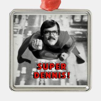 Super Dennis Silver-Colored Square Decoration