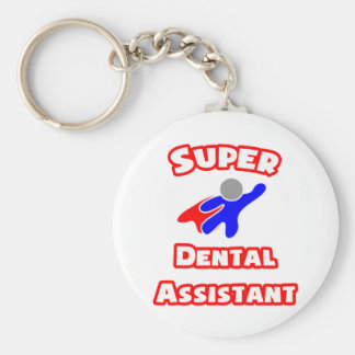 Super Dental Assistant Basic Round Button Key Ring