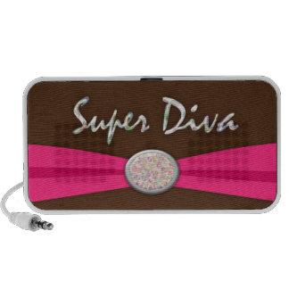 Super Diva Ribbon and Opal Like Button Design Mini Speakers
