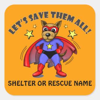 Super Dog animal rescue shelter stickers badges