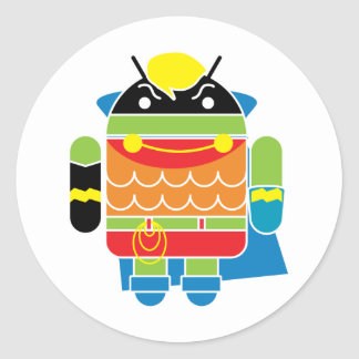 Super Droid Classic Round Sticker