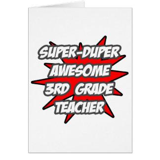 Super Duper Awesome 3rd Grade Teacher Greeting Card