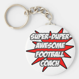Super Duper Awesome Football Coach Basic Round Button Key Ring