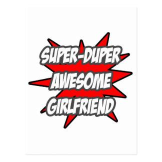 Super Duper Awesome Girlfriend Postcard
