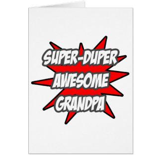 Super Duper Awesome Grandpa Cards