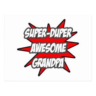 Super Duper Awesome Grandpa Postcard