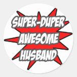 Super Duper Awesome Husband Classic Round Sticker